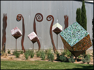 Cube sculptures, Clautiere Vineyard